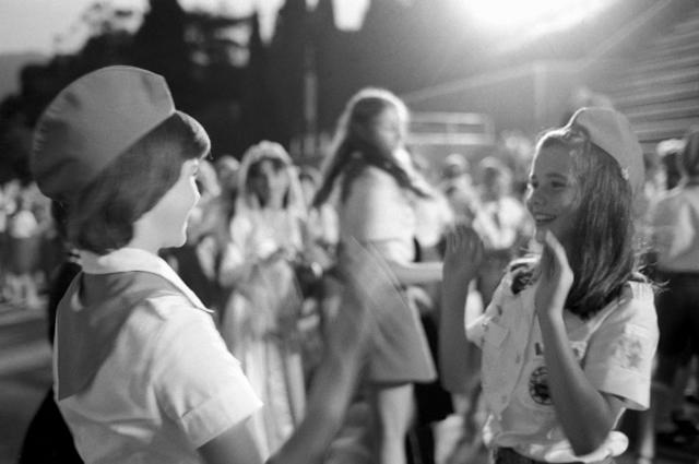 Саманта Смит в лагере Артек с пионерами