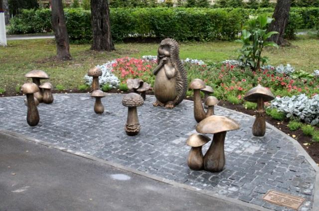 Скульптура Грибная полянка.