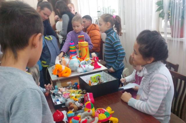 ярмарка игрушек, дети
