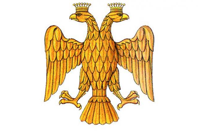 Двуглавый орел на гербе Ивана III