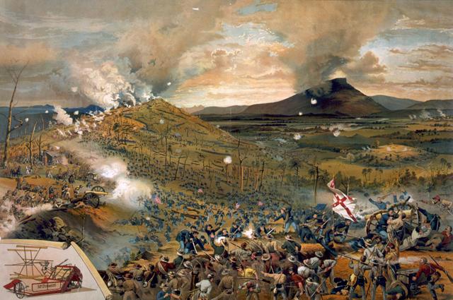 Битва при Чаттануге: штурм Миссионерского хребта 25 ноября 1863 г.