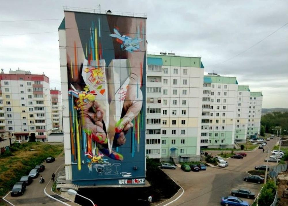 Работа немецких мастеров граффити.