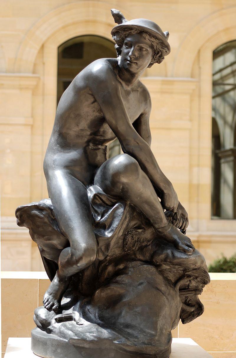 Жан-Батист Пигаль. Меркурий, завязывающий сандалию.