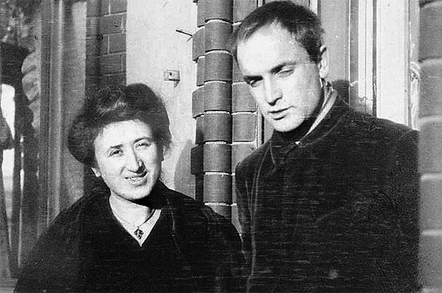 Роза Люксембург и Константин Цеткин.