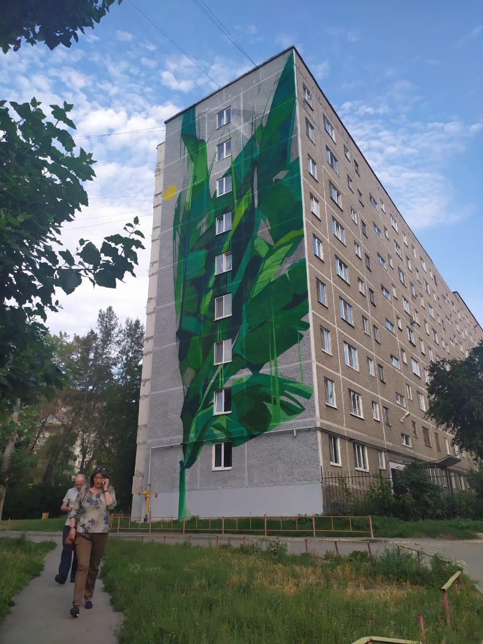 зеленый анегл стрит арт граффити