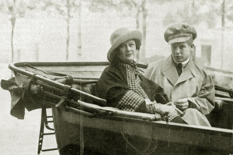 Айседора Дункан и Сергей Есенин в Ницце. 1922 год