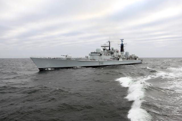 British Navy destroyer York.