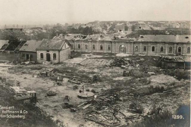 Руины крепости Осовец, 1915 г.