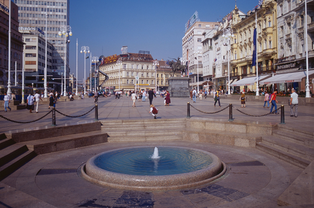 Загреб, фонтан Мандушевац.