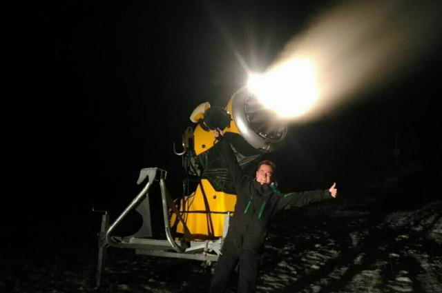 Система искусственного снегообразования  фанпарка насчитывает 80 единиц снегогенераторов.