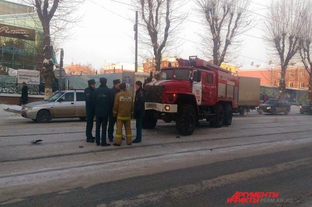 Пожарная машина спешила на вызов