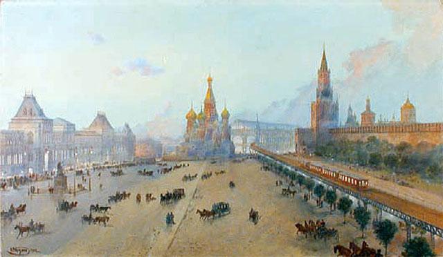 Один из первых проектов метро предполагал строительство эстакад на Красной площади