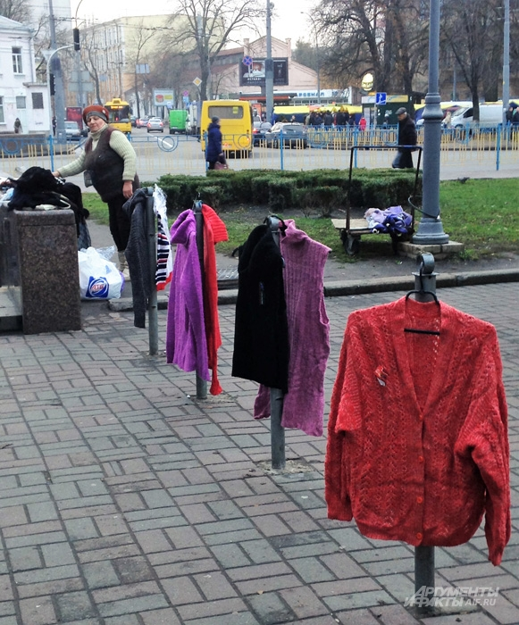 Стихийная торговля в Киеве процветает.