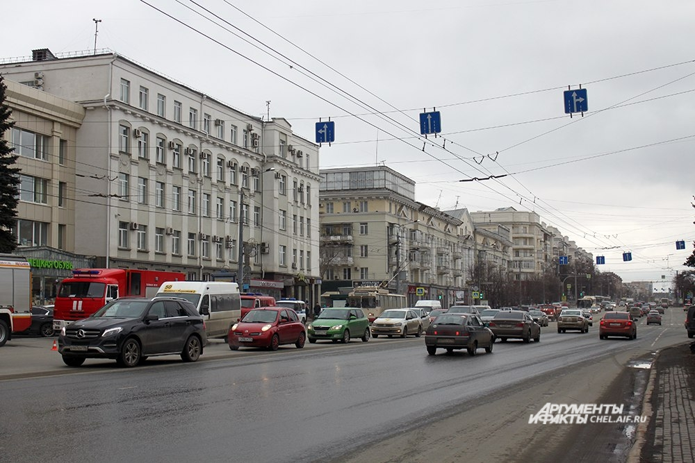 На проспекте Ленина образовались пробки.