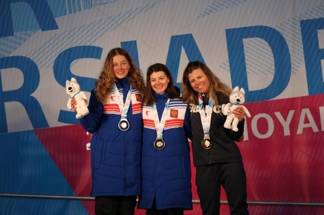 Две медали у российских девушек.