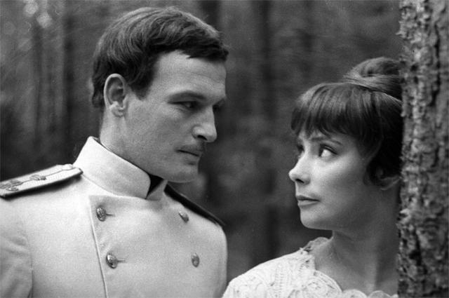 Василий Лановой и Татьяна Самойлова на съемках фильма Александра Зархи «Анна Каренина». 1966 г.