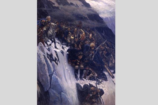 «Переход Суворова через Альпы». Василий Суриков, 1899 г.