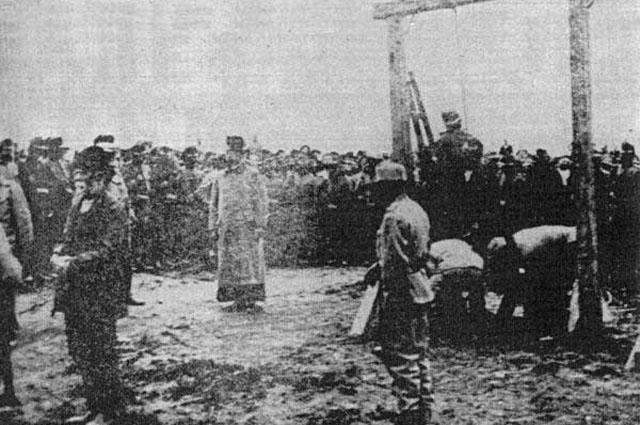 Талергоф в 1917 г. Место, где проводились лагерные экзекуции