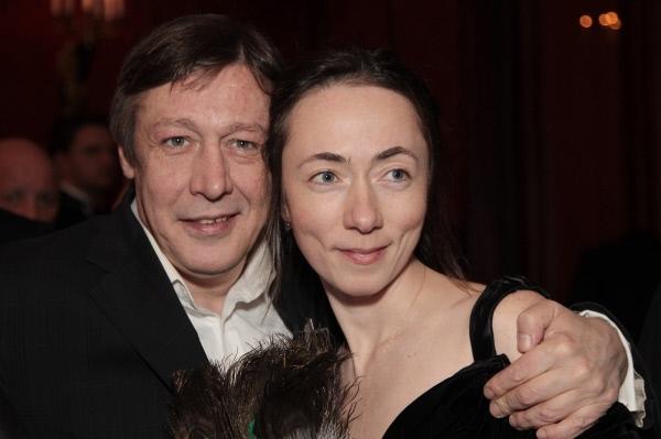 Актер Михаил Ефремов с супругой Софьей Кругликовой на традиционном Bosco бале в Москве