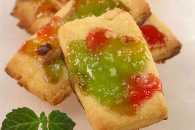 Постное печенье с мармеладом