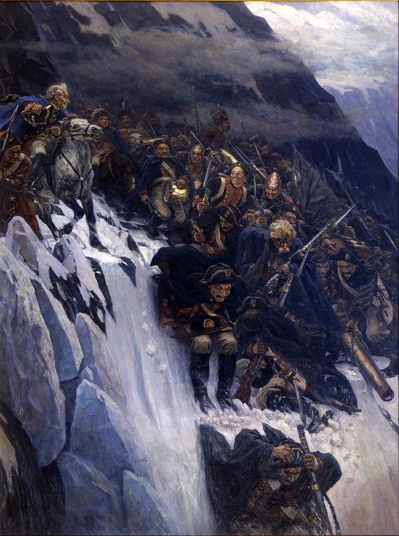 «Переход Суворова через Альпы», 1899 г. Василий Суриков.