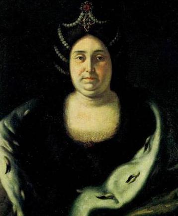 Портрет царицы в пожилом возрасте, одетой по новой европейской моде, картина Ивана Никитина.