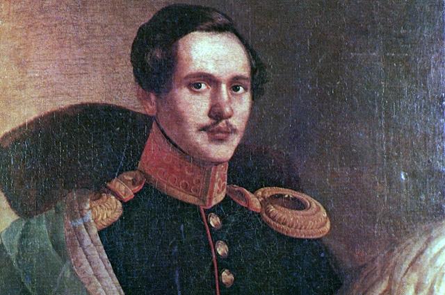 М. Ю. Лермонтов в вицмундире Лейб-гвардии Гусарского полка. Фрагмент портрета П. З. Захарова-Чеченца.