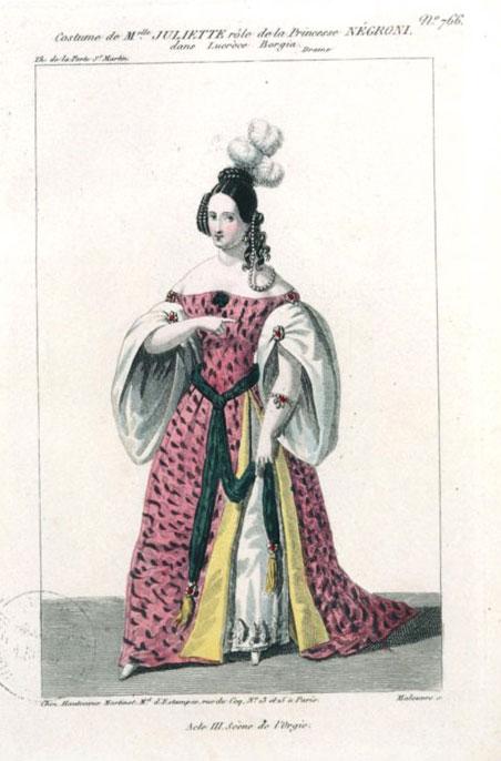 Жюльетта Друэ в роли Принцессы Негрони (старинная открытка). XIX век
