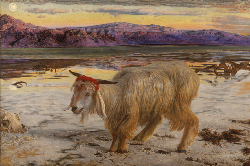 Козёл отпущения . Картина Вильяма Хольмана Ханта, 1854 год