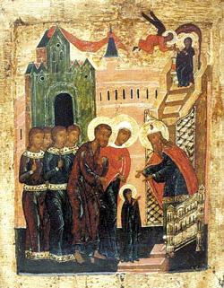 Введение во храм Пресвятой Богородицы (икона, XVI век)