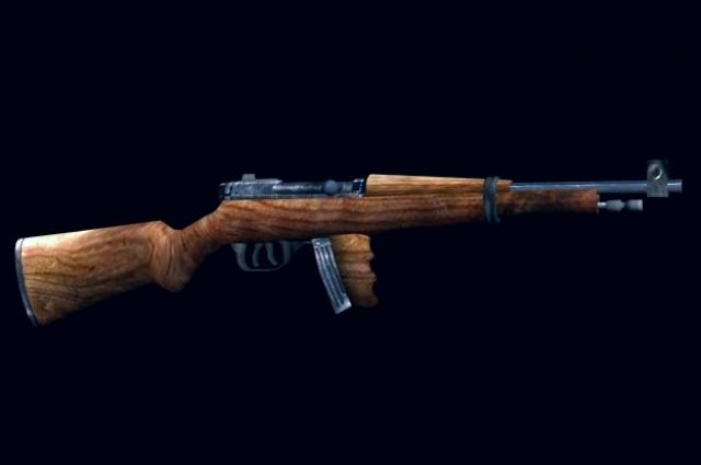Пистолет-пулемёт Токарева (3D-модель).