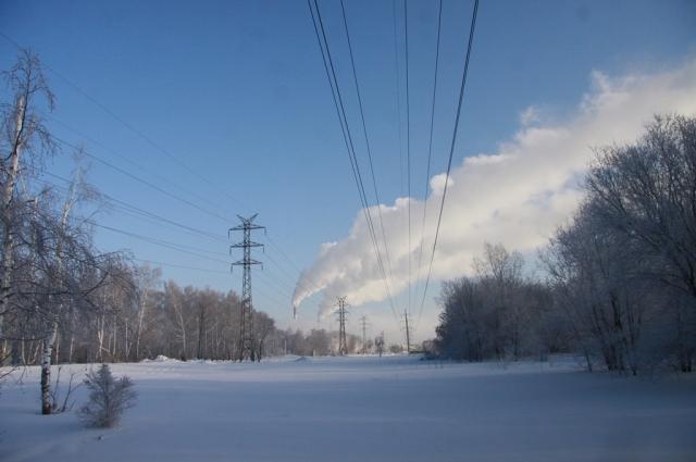 Зима в Барнауле.