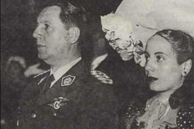 Свадьба Эвы Дуарте и Хуана Перона в 1945 году