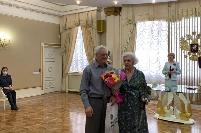 Раиса Степановна с супругом.