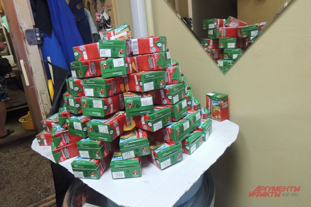 Дети принесли пустые коробочки из-под сока в кабинет Натальи: ими очень любят играть пумы-малыши