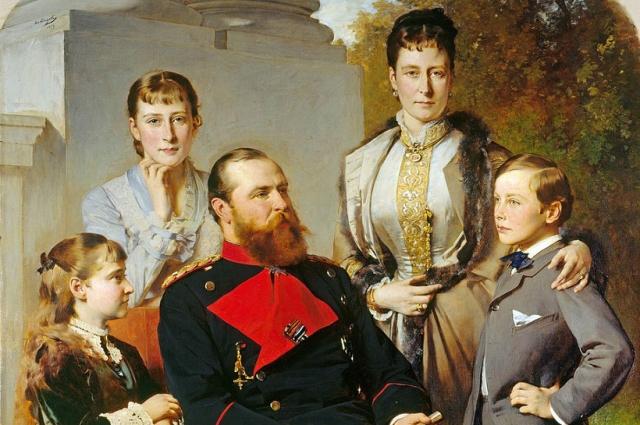 В браке Алисы и Людвига родились семь детей.