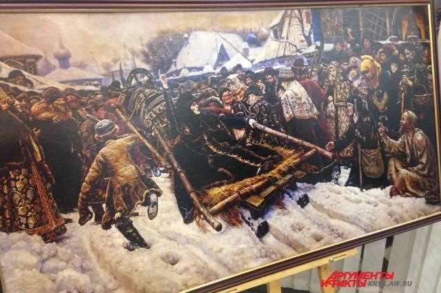 Чтобы подготовиться к написанию многофигурной исторической композиции о знаменитой боярыне Морозовой, Василий Суриков поехал ознакомиться с картинами старых мастеров.
