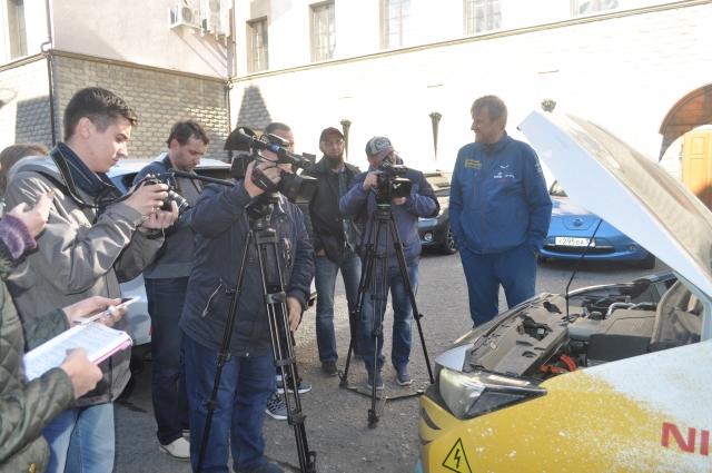 Пан Каминский рассказал журналистам о своём путешествии.
