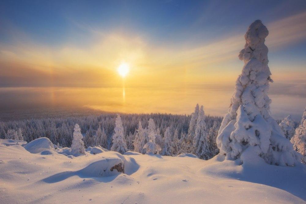 Национальный парк «Зюраткуль» зимой.