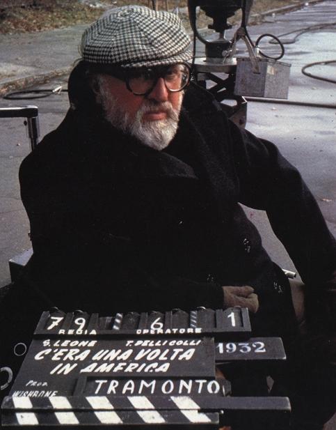 Серджио Леоне на съемках фильма «Однажды в Америке».