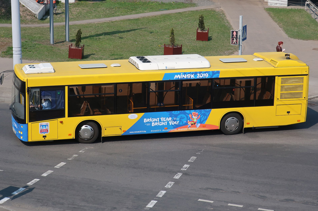 Автобус в Минске.