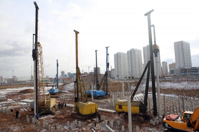 Строительство аквапарка ведется на пересечении улиц 9 Мая и Шахтёров.