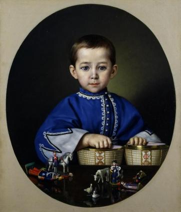 Один из двух поясных портретов, выполненных художником по заказу почётного гражданина Василия Терликова.