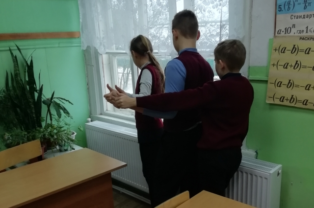 В классах - тепло и уютно.