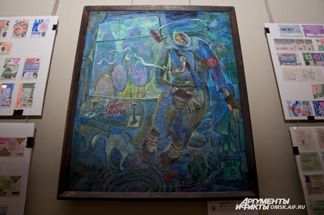 На выставке представлены работы омских художников.