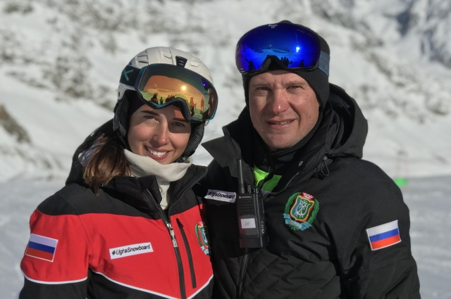 Наталья Соболева с тренером Александром Вегеле