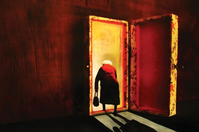 Спектакль повествует об одиночестве путешествующего в воспоминаниях.