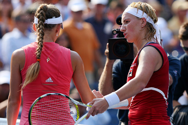 Светлана Кузнецова и Анна Чекветадзе на US Open 2007