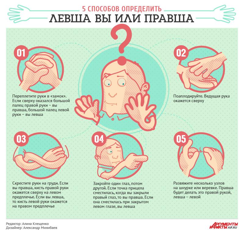5 способов определить, левша вы или правша