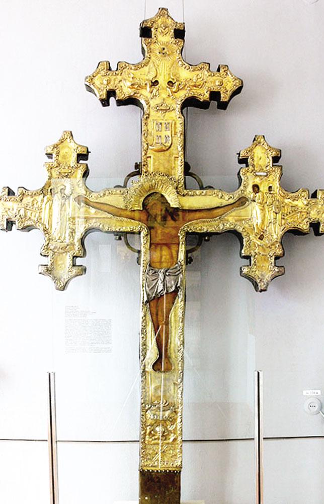 Сретенский крест, спасший Муром от чумы. Хранится в Муромском историко-художественном музее.